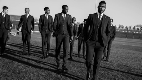 SUITED AND BOOTED: Dsquared2's new and exclusive Manchester City suit.