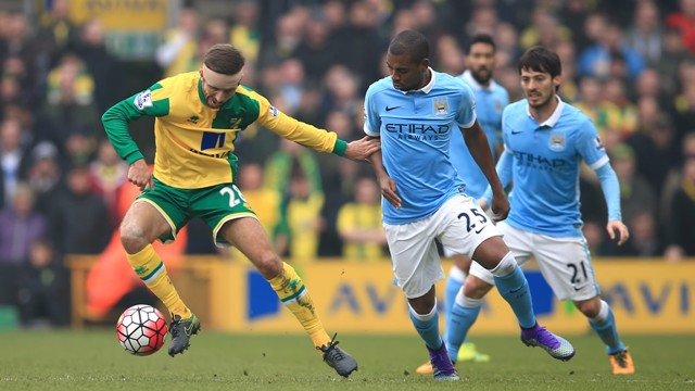 Fernandinho: Midfielder in action against Norwich