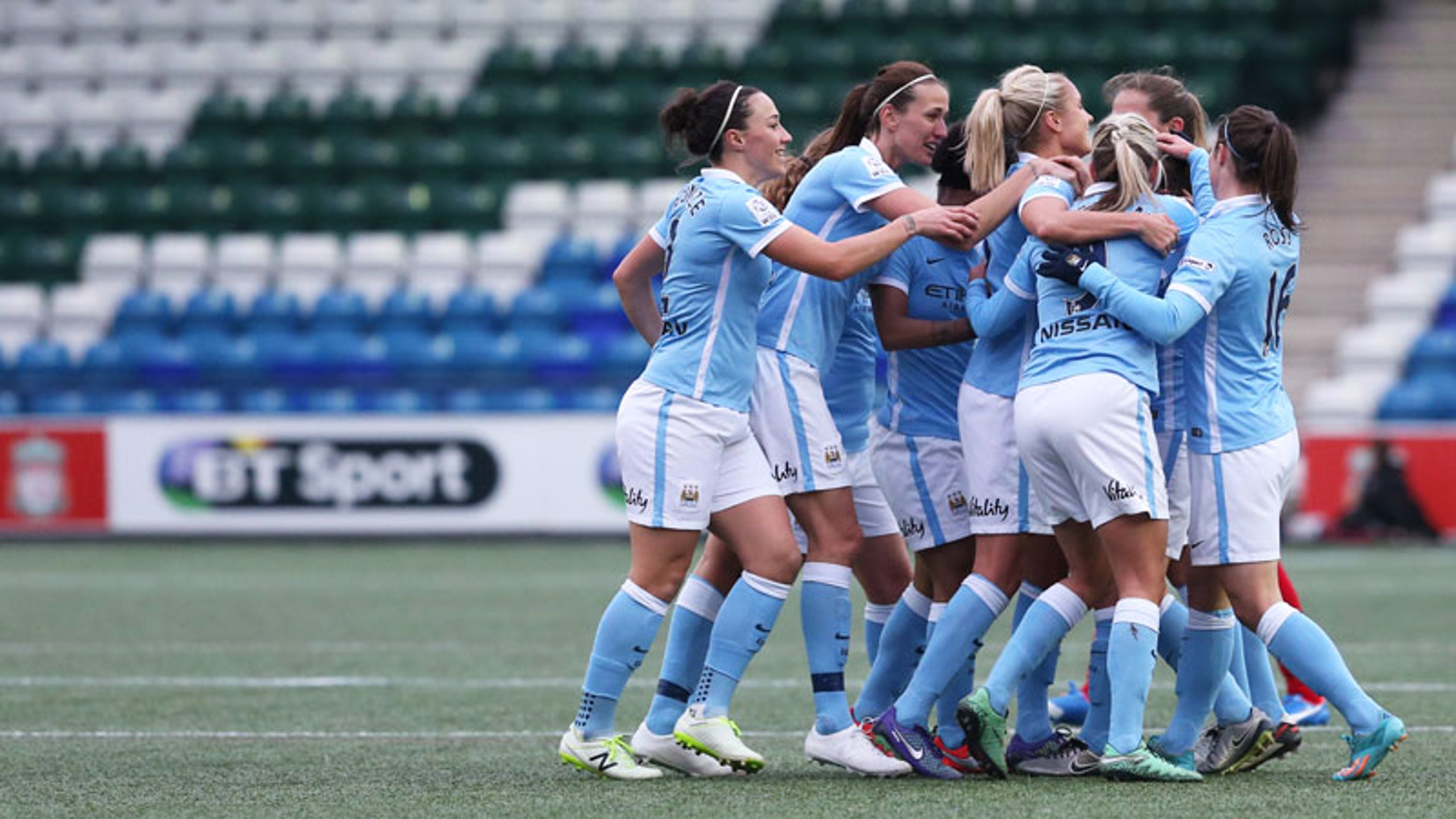 CUP OF CHEER: City players celebrate
