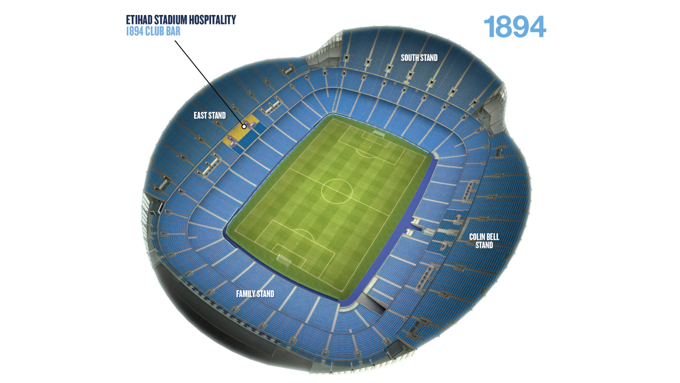 1894 Club Seating Plan - East Stand