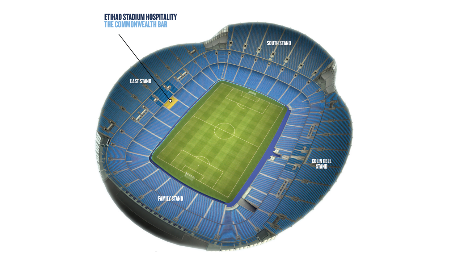 Commonwealth seating location within the stadium
