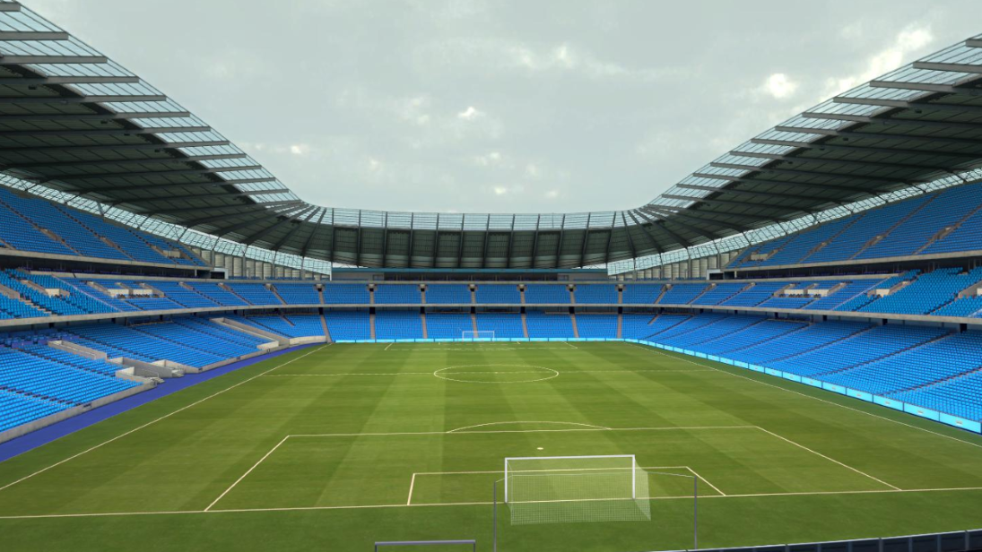 View of pitch from sample seat of Legends suite