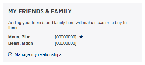 Friends and Family module online