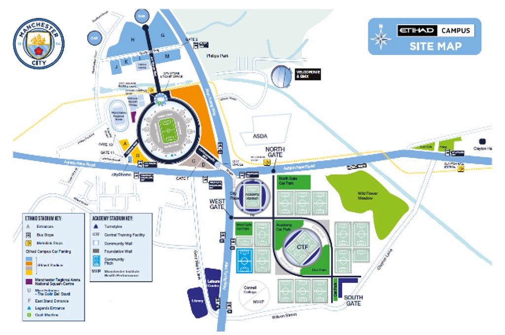 Etihad Campus Site Map
