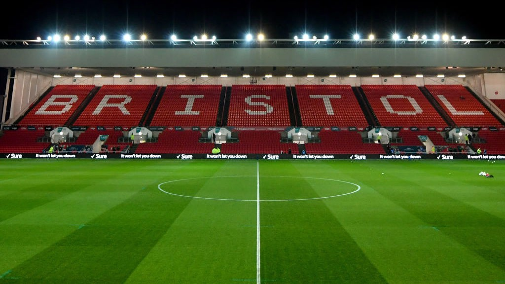 PITCH SIDE: Bristol City's Ashton Gate stadium.