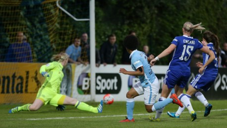 FA WSL action: Chelsea v MCWFC