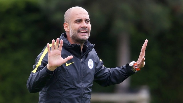 Pep Guardiola at first day of training 5 July 2016