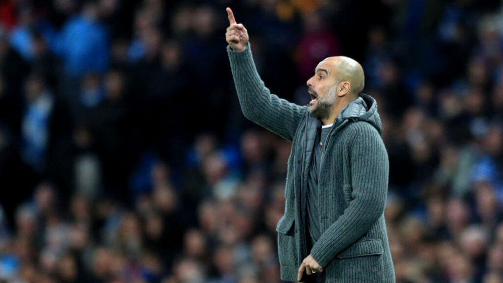 PEP TALK: The boss gets his message across early in the second half