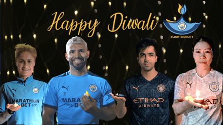 Happy Diwali from Manchester City