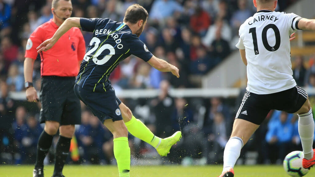 SILVA SPRINGS : Bernardo fires City into the lead