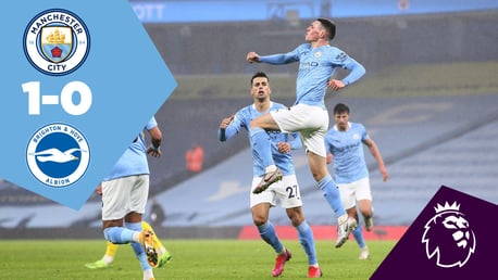 City 1-0 Brighton: Full-match replay