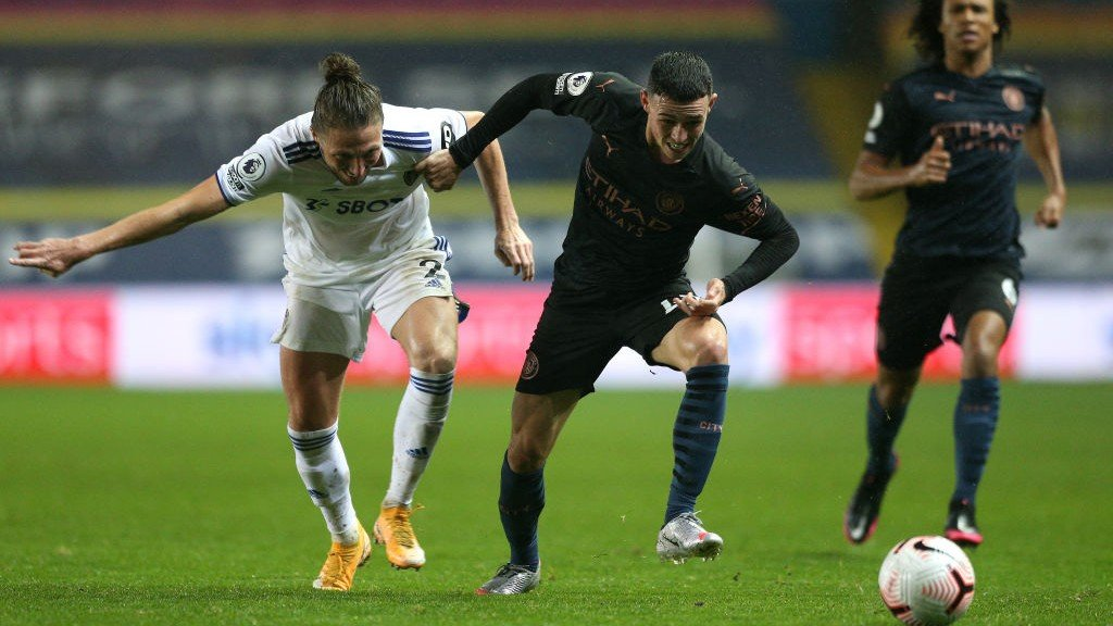 FIGHTING FODEN: Phil looks to get on the attack
