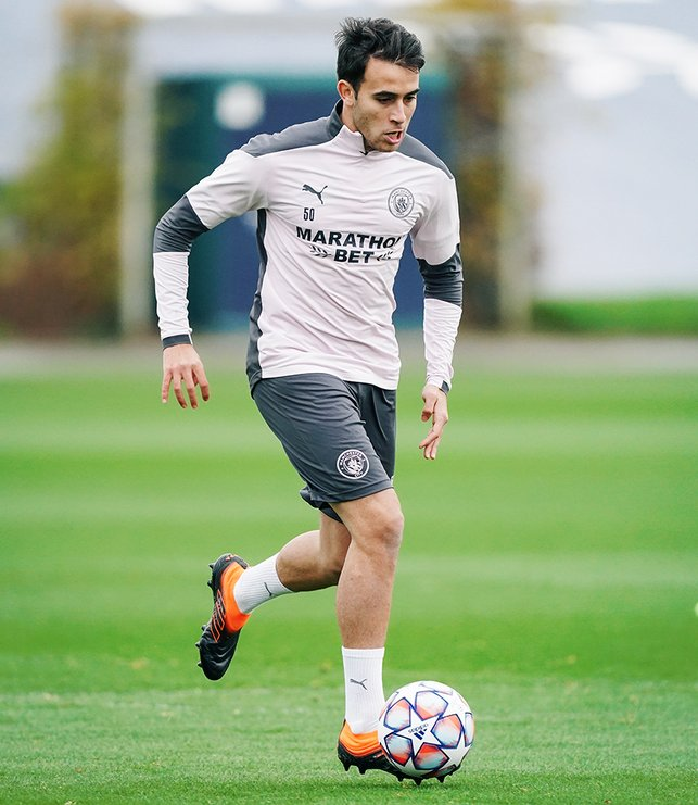 ON THE BALL: Eric Garcia goes through his paces