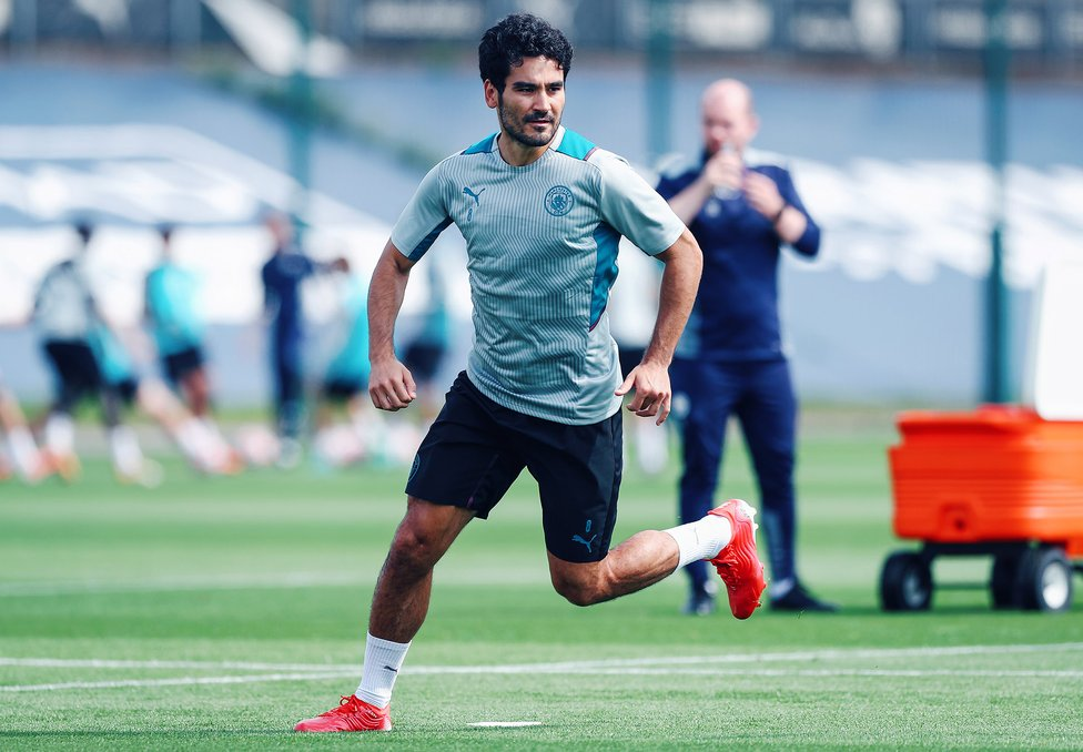 MIDDLE MARCH: Ilkay Gundogan warms to the task