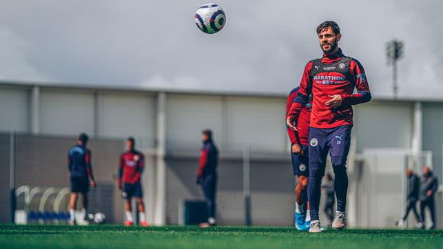 CALM AND COLLECTIVE  : A relaxed Bernardo Silva has his eye on the ball.