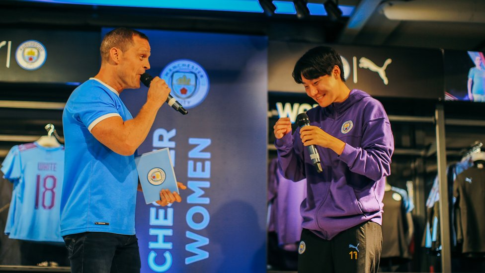 MANCHESTER LEE : South Korea international Lee Geum-min had everyone in stitches, as always!