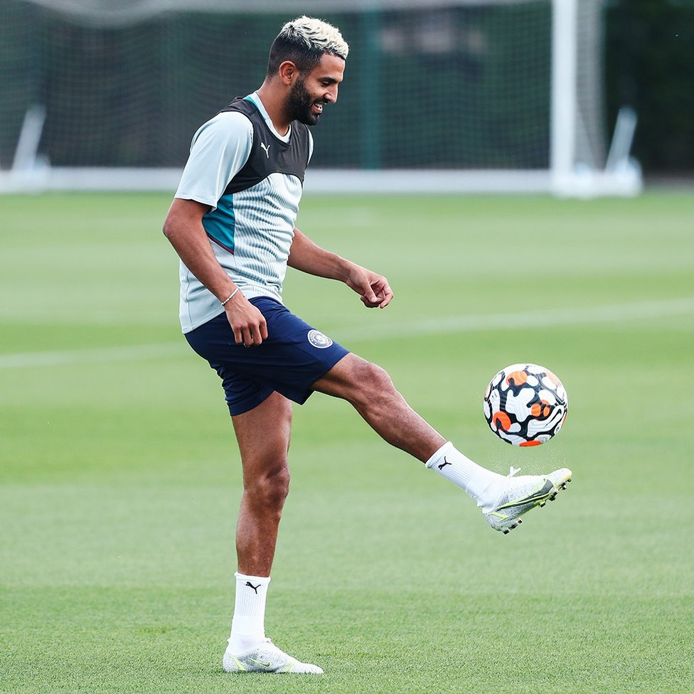 WING WIZARD: Riyad Mahrez shows off his touch
