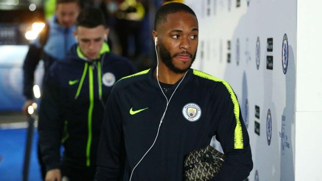 IN THE ZONE : Raheem looked focused ahead of kick-off
