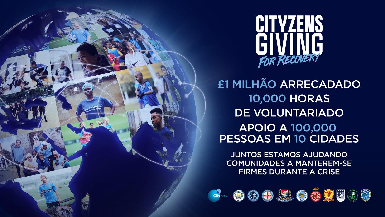O CFG comemora o grande sucesso do Cityzens Giving For Recovery!