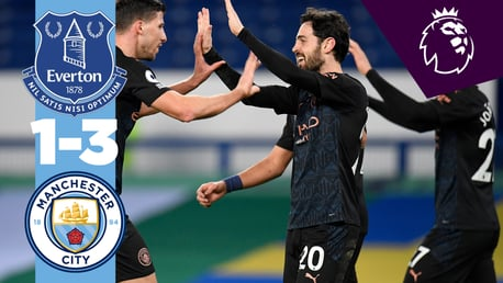 Everton 1-3 City: resumen breve