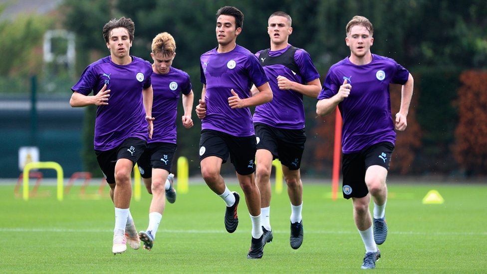 YOUNG AT HEART : Eric Garcia, Tommy Doyle and Adrian Bernabe are amongst some of the younger squad members in action