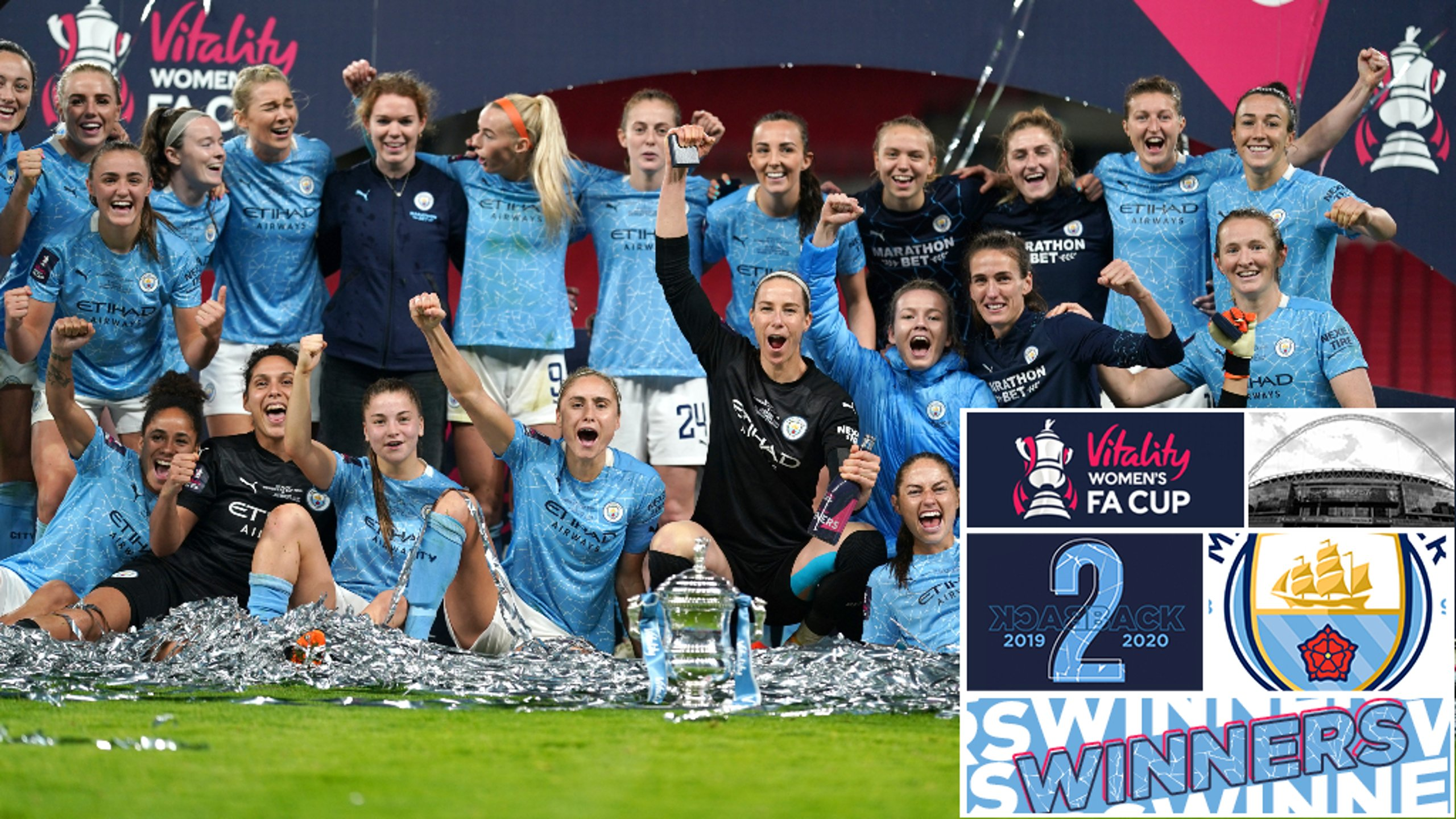 Back-2-back: Women's FA Cup Champions 2020!