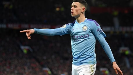 Phil Foden is the youngest Englishman to start a Manchester derby for City since Micah Richards