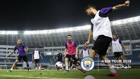 SHANGHAI: The squad were put through their paces this evening