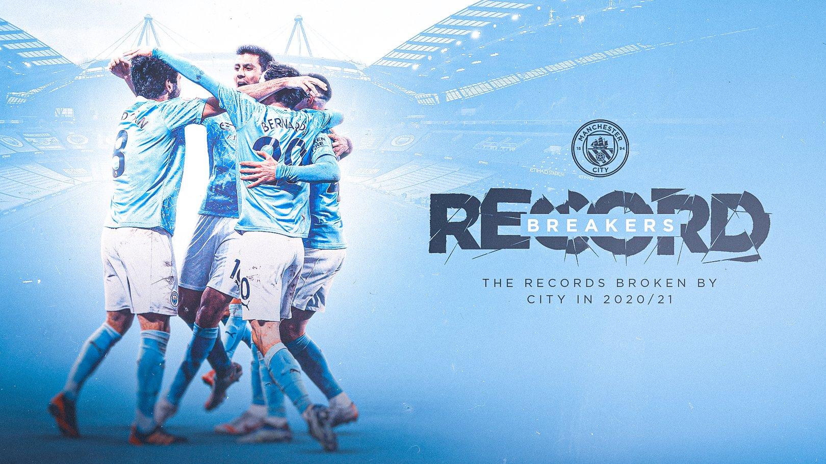 2020-21시즌 프리미어리그 우승과 함께 한 맨체스터 시티의 새로운 기록