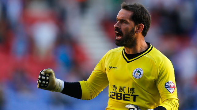 WIGAN : Carson returned to England after two seasons at Bursaspor