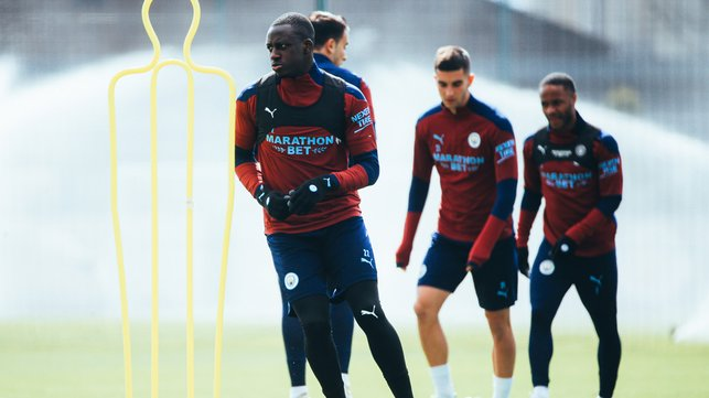 MARVELLOUS MENDY: Our defender is put through his paces