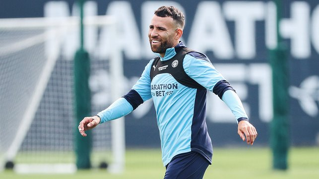 GENERAL ORDERS: Nicolas Otamendi gets into the swing of things