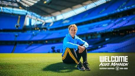 HOME OF THE CHAMPIONS: Will Aoife make her debut in the opening day Manchester Derby at the Etihad?