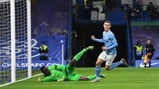 DOUBLE DELIGHT: Phil Foden celebrates adding a second