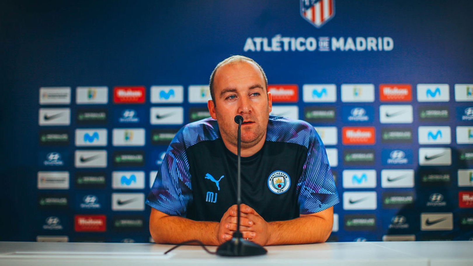 CHAMPIONS LEAGUE: Nick Cushing has faced the media ahead of the game