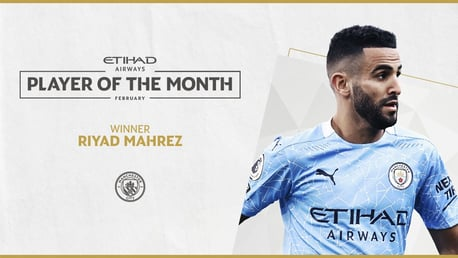 Mahrez voted Etihad Player of the Month