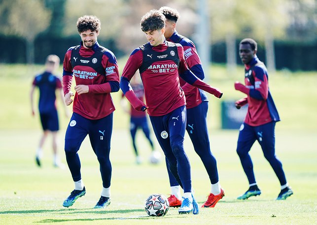 ON THE BALL: John Stones shows off his skills