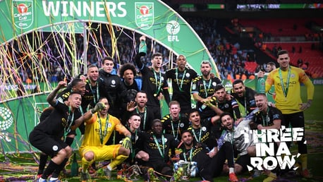 Carabao Cup final: Pitch celebrations!