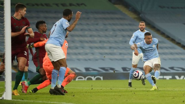 LATE DRAMA: Gabriel Jesus puts City back in front