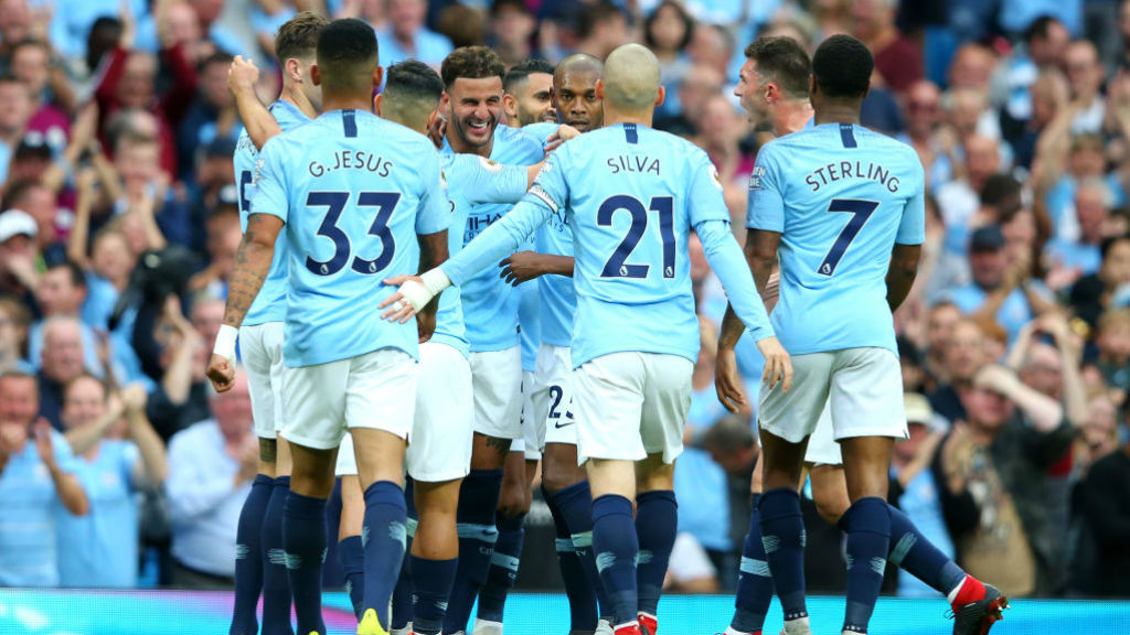 Which TV channel is Man City v Lyon on?