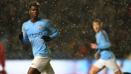 YOUNG BLUES: Taylor Richards in action for City U18s