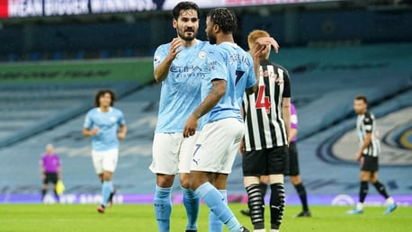 STERLING SERVICE: Ilkay appreciates the assist from Raheem!