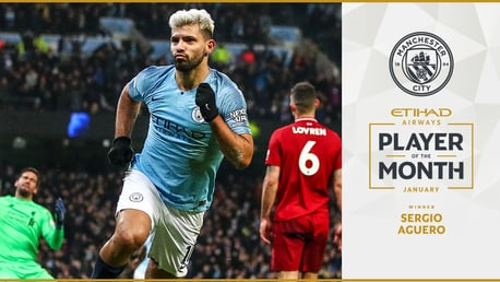 Sergio is  Etihad Player of the Month for January