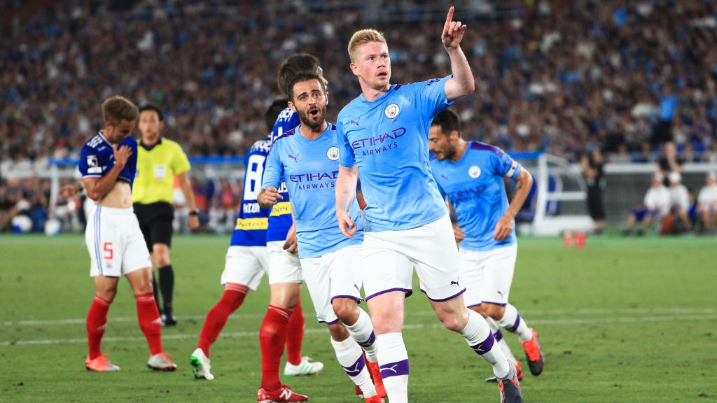 BELGIAN BRILLIANCE: Kevin De Bruyne puts City ahead