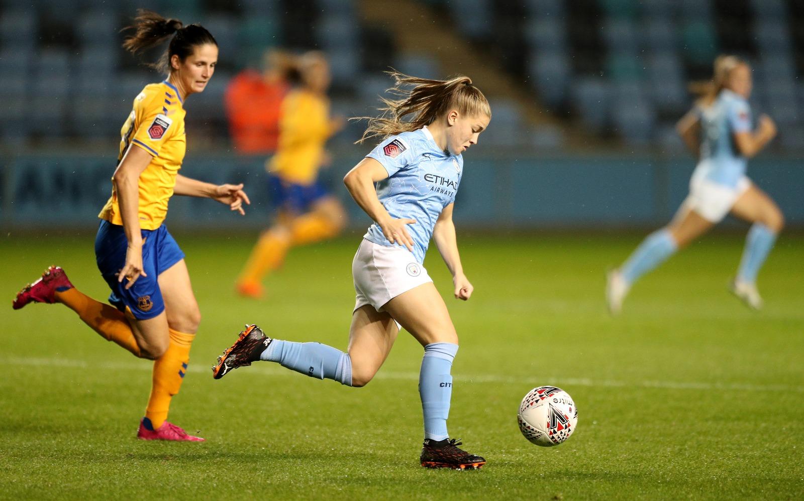DESTACADA. : Jess Park, de 18 años, fue una de las destacadas del City ante el Everton.