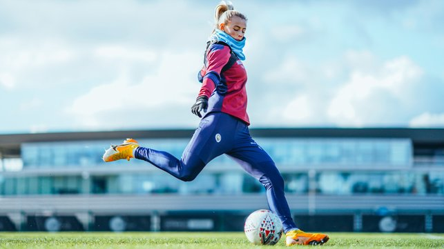 TARGET PRACTICE : Chloe Kelly bagged a goal in the last league Derby. Same again Friday, CK?