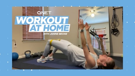 Janine Beckie's home workout: Hip lifts, planks and bridges