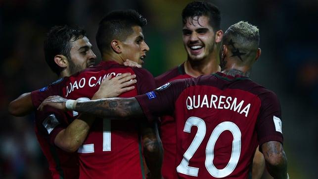 COMPATRIOTS : Joao joins fellow Portugal star Bernardo Silva in Manchester