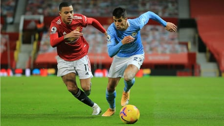 ON THE MOVE: Joao Cancelo looks to get City motoring forward