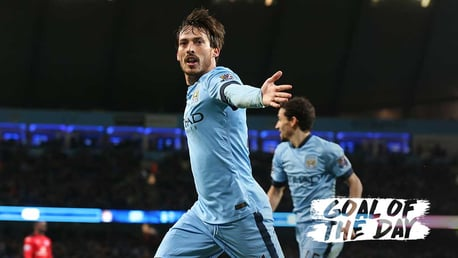 GOAL OF THE DAY: David Silva celebrates his strike against the Foxes